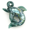 Lamp Bead Dolphin 2Pc 27mm Flamenco